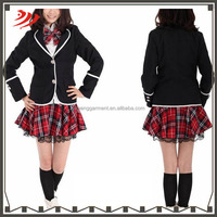 wholesale 2015 new design high school girls sexy uniform