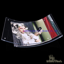 New Style Curved art acrylic square 5x7 magnet clear acrylic frame transparent table poster frame ST-PFCM5070-04 Z1