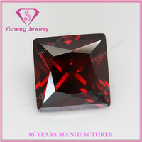 China wholesale synthetic red garnet cz cubic zirconia gemstone