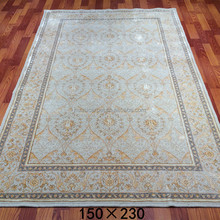 150x230cm 120 lines Handmade persian wool silk rug berber wool carpet