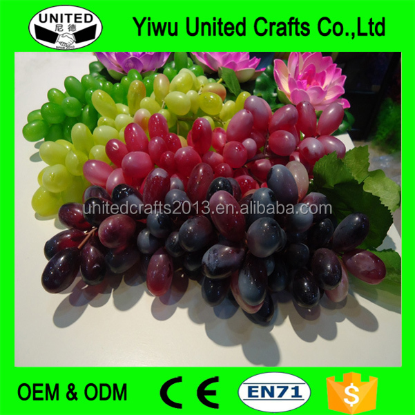 85pcs/string artificial fruit plastic wall decor grape