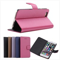 BRG Wire Drawing Lines PU leather flip cover case for smartphone with credit card holder