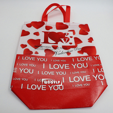 Fancy cartoon design 80gsm advertising laminating pp non woven reusable eco shopping bag