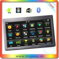 7' gps navigator tablet pc android gsm gps with FM,MP3,MP4,wifi,512SDRAM+8G flash