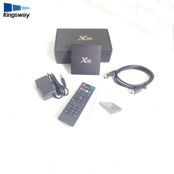 1/8GB Amlogic x96 android tv box Octa Core 2GRAM 16GROM Android 6.0 IPTV Receive Kodi TV Box