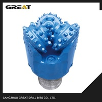 Tricone drill bit for water well drilling with TCI