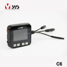 factory price V-sys C6 2.0 inch mini size 120 degree full hd 1080p camera for inside car sport motorcycle