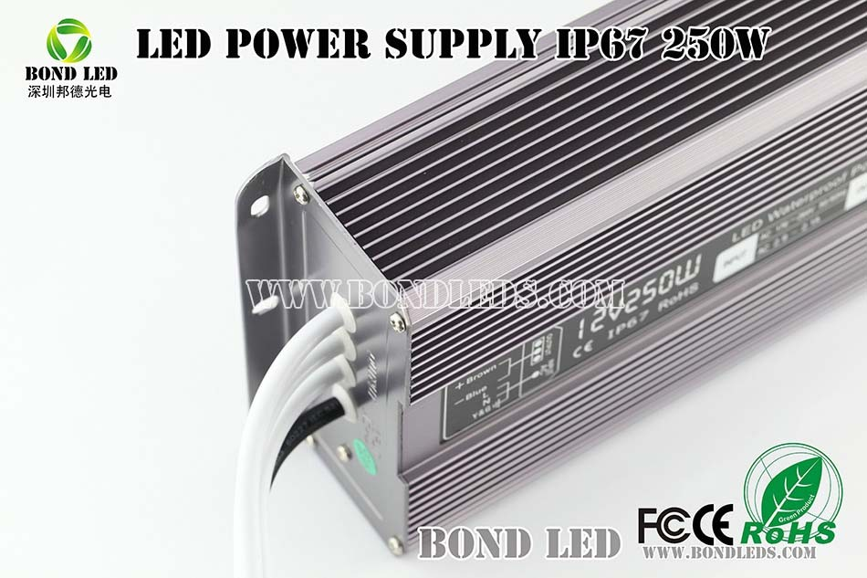 12v 20w Electronic LED Driver ip67 led outdoor waterproof switch power supply
