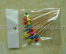 rainbow color digit pattern bead bamboo sticks