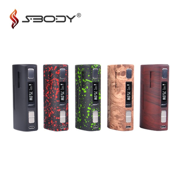 2016 Evolv dna 75w macro mod sbody box mod single replaceable 18650 mod