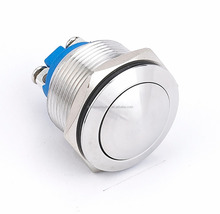 Reset and on off stainless steel screw terminal waterproof IP65 push button switch(19mm)