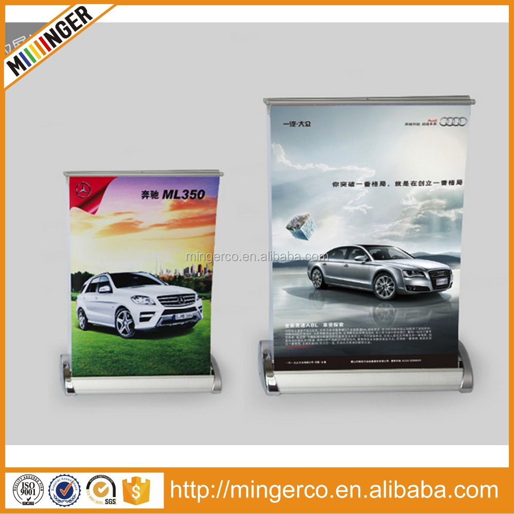 table top roll up, economic roll up banner stand, mini desktop roll up a3 a4