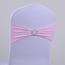pink colour cheap Wedding spandex chair cover band/spandex chair cover sash