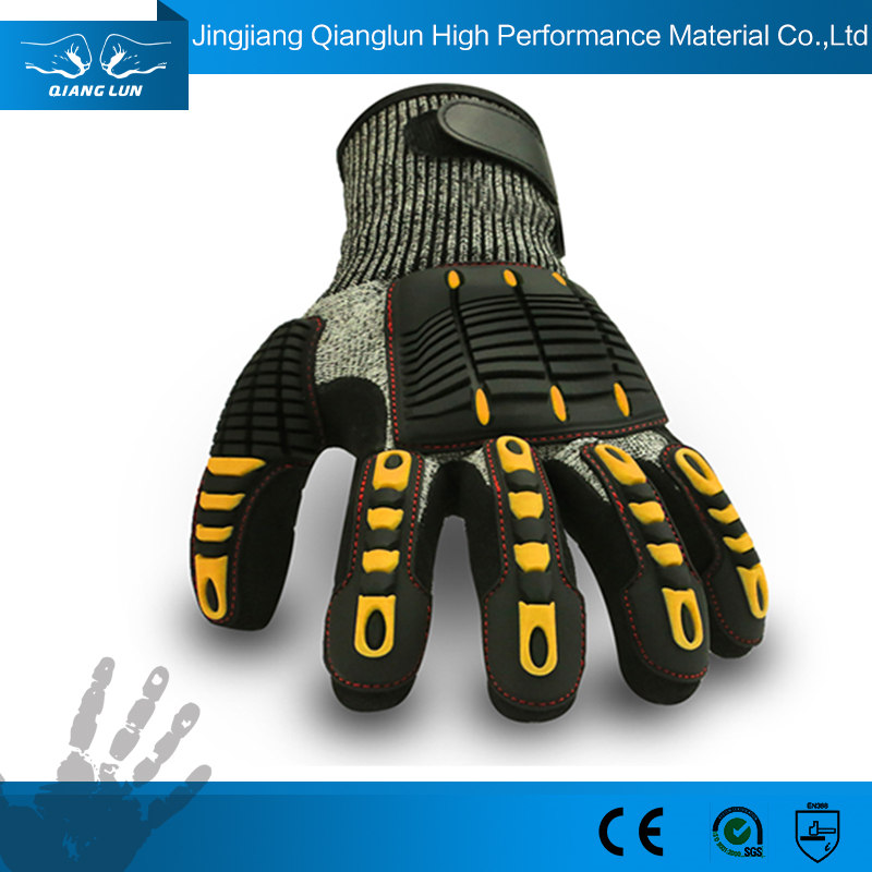 Tpr Saftey Oil And Gas Work Gloves Cut Resistant Level 5