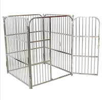 2017 New Style Pet Paling Golden Retriever Satsuma Labrador Dog Stainless Steel Dog Cage