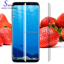 New arrival 3D Curved Full Cover Soft Film cell phone PET screen protector For Samsung