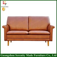 Guangzhou Furniture Top quality leather corner sofa for restaurant