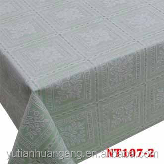 laminated pvc lace table covers/fancy table cloth