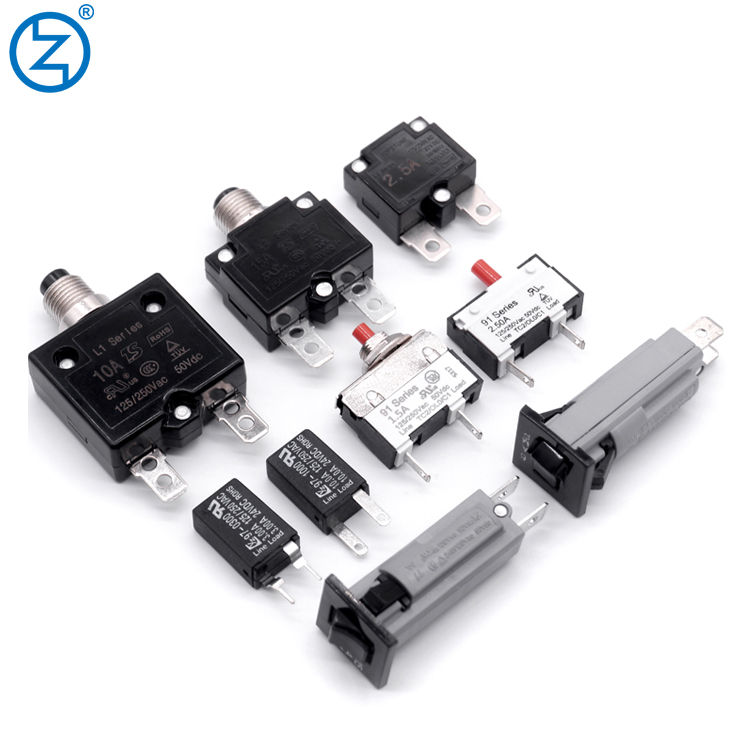 12V Push Button Resettable Thermal Circuit Breaker Overload Protector 30AMP