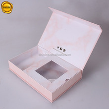 Sinicline new arrival custom pretty pink color gold logo printed paper box lingerie packaging