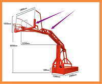 YIQILE strengthening upgrades imitation hydraulic basketball frame YQL-00001