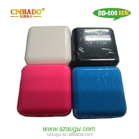 promotional foldable US plug dual USB wall charger with color shell