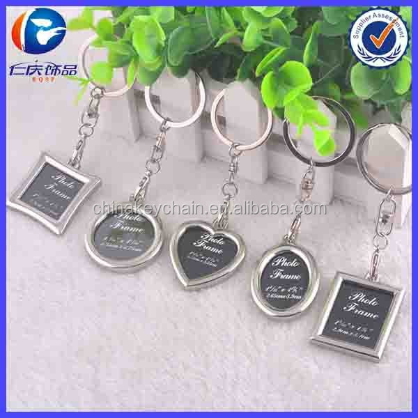 Hot Selling Custome Metal Keychain Photo Frame