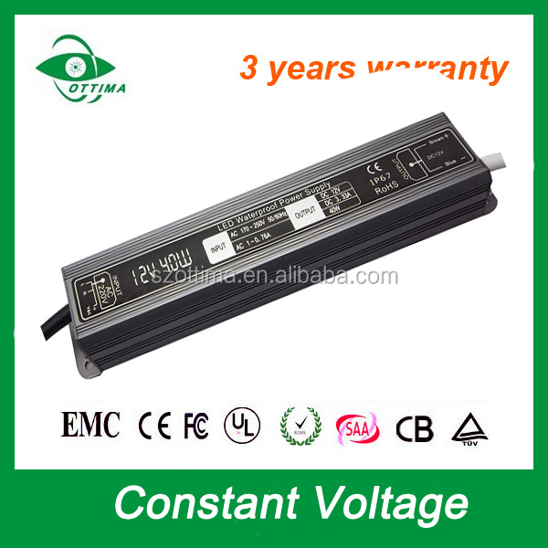 5050 smd led driver module waterproof IP67 40W 12V led driver 40w meanwell led power supply