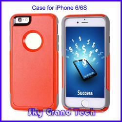 fashional cool black TPU Case for iPhone6S PC back cover
