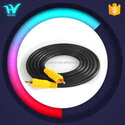 Yellow plug rca to rca cable audio video cable