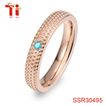 gold ring jewelry for women stainless steel bands with blue zircon rhinestone wholesale alibaba diamond engagement ring 4mm