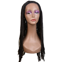 ombre lace frontal synthetic wig natural cheap box braid hair wig