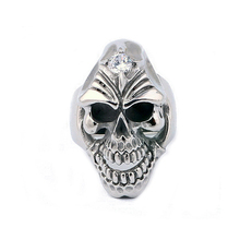 Innitial creative and unique monster head design ring