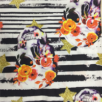 100% Cotton Spandex Poplin Printed Fabric