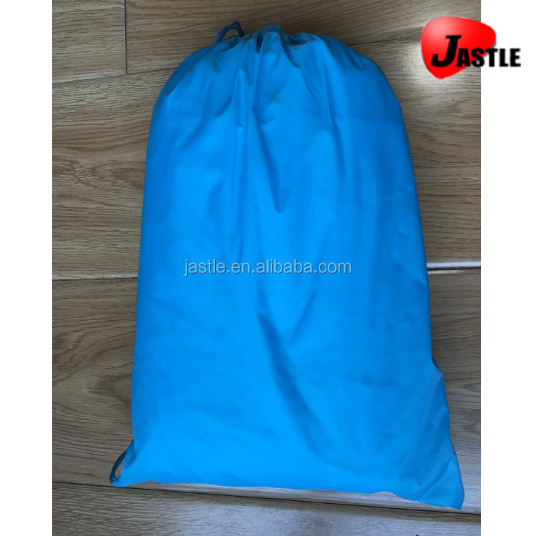 Wholesale Light blue 190T polyester Inflatable air sofa