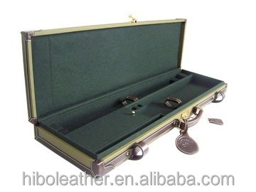 Canvas and leather Locking wooden Gun case