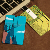 Bulk Cheap Ultra Slim Business Card Usb flash Drives Credit Card USB 2.0 Flash Memory Customized Logo Printing USB Stick 8GB