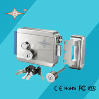 electric lock with big cylinder(30mm) and computer key for apartment auto door lock