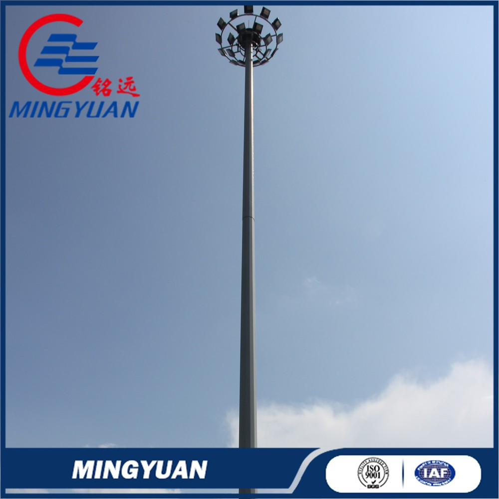 football stadium high mast polygonal steel pole