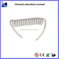 OEM 2 Cores DC Cable Spiral Coiled Elastic Cord