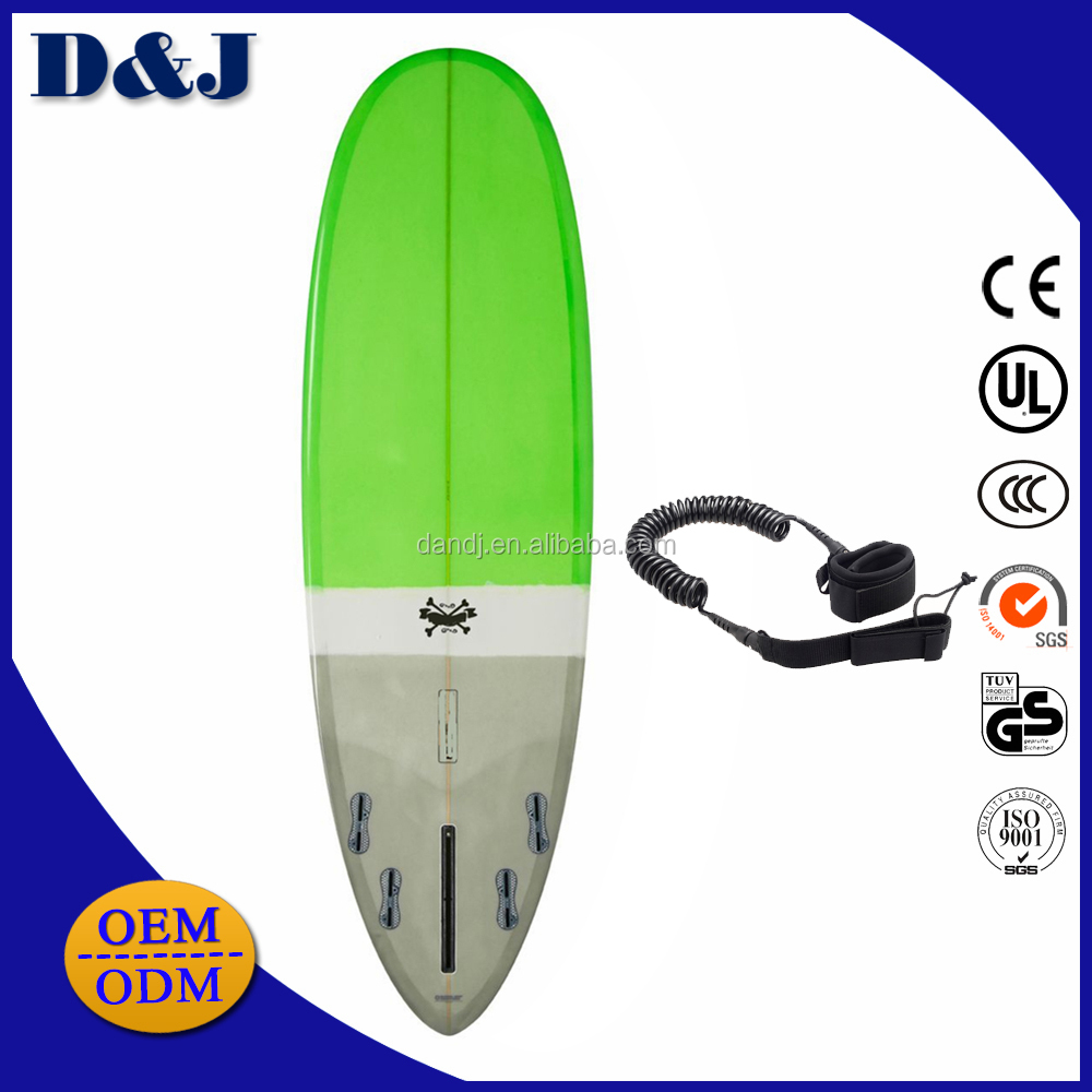 EPS foam surfboard 6'8 with surf leash accessories