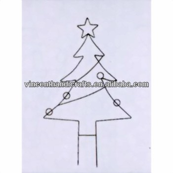 Christmas Tree Shape Metal Plant Support For Garden Decor