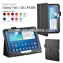 Black Leather Stand Slim Smart Case Cover for Samsung GALAXY Tab 3 10.1 P5200