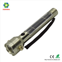 Camping Usage flashlight and LED Light Source solar hammer rechargeable powered led flashlight torch with compass