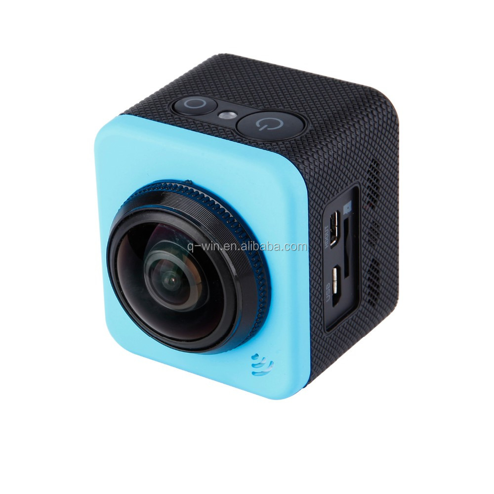 30M waterproof action camera with 360 view angle with LCD display