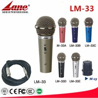 Lane hot sale dynamic vocal microphone optional 6 color metal case LM-33