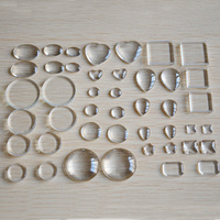 wholesale transparent clear flat glass cabochon of round and square and heart shape glass cabochons jewelry