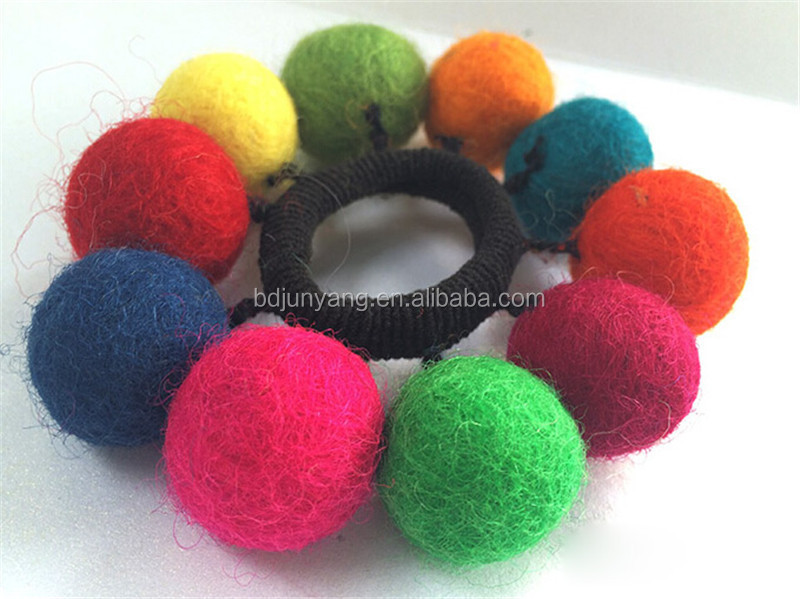 Colorful christmas ornament small decoration balls wool felt ball
