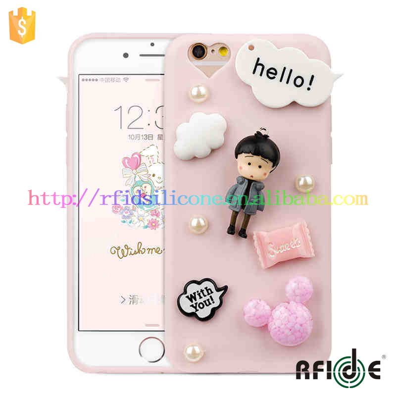 RFID High Quality Sakura Momoko For Iphone 6 Plus Cover 3D silicon Soft Cases ( Custom Picture for iPhone 6, iPhone 6 PLUS)