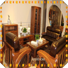 Philippines teak wood sofa set designs furniture hot sell